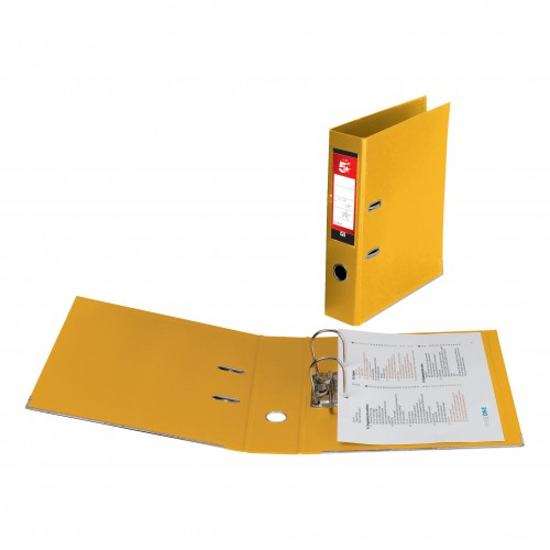 5 Star LEVER ARCH File A4 YELLOW (single) *Delivery in Cumbria only*