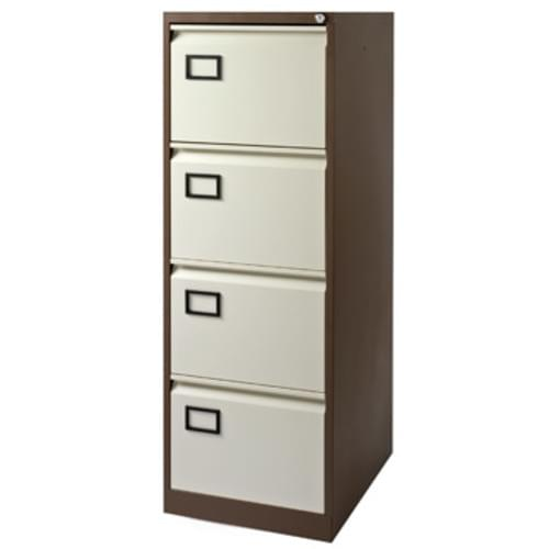 Bisley Contract 4 Drawer F-Cabinet Coffee-Cream