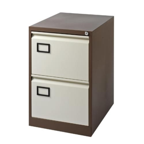 Bisley Contract 2 Drawer Filing-Cab Coffee-Cream