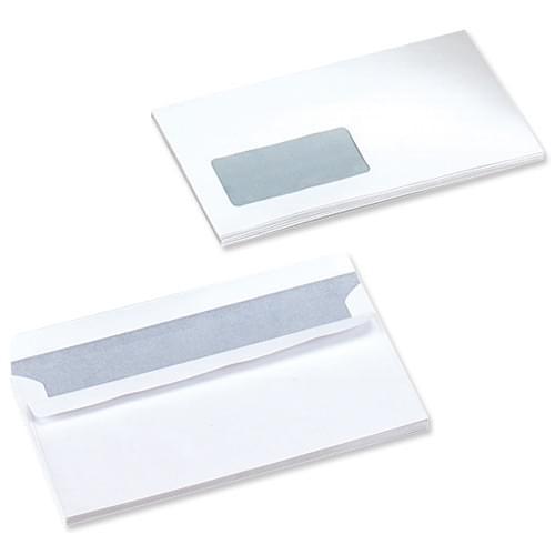 DL (110 x 220) WHITE P-Seal Window 90gsm Bx1000