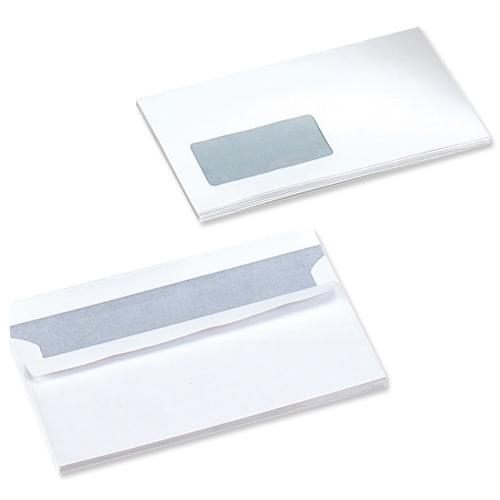 DL (110 x 220) WHITE P-Seal Window Envs 80g Bx1000