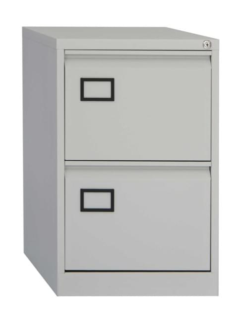 Bisley Contract 2 Drawer F-Cabinet Grey