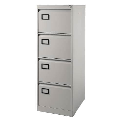 Bisley Contract 4 Drawer Filing-Cabinet Grey