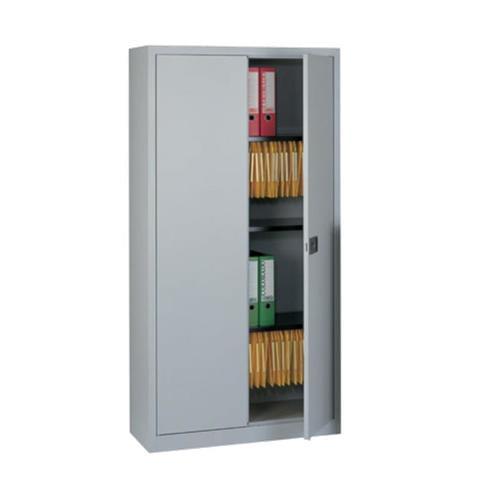 72 inch Bisley Contract 2-Door Steel Cupboard Grey