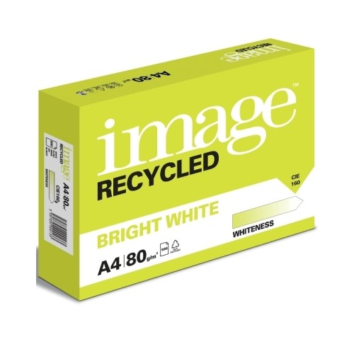 Image A4 Recycled Bright White Copier 80gsm Pk500