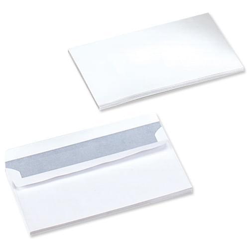 DL (110 x 220) WHITE P/Seal Envelopes 80g Bx1000