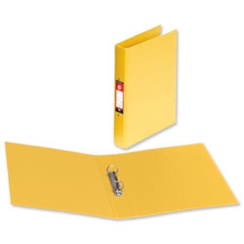 A4 PVC 2 Ring Binder YELLOW (single)