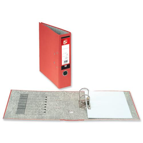 5 Star LEVER ARCH File A4 RED (single) *Delivery in Cumbria only*