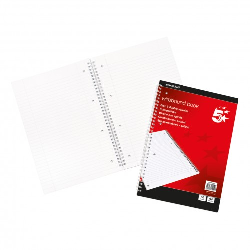 A4 SPIRAL BOUND Refill Note Book 100 page (each)