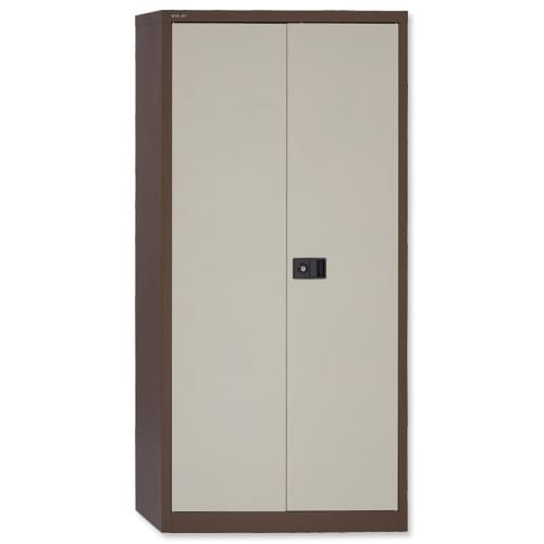 72 inch Bisley Contract 2-Door Cupboard Coffee-Cream