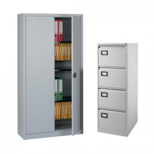 Bisley Package Deal  - Steel 2 door  Cupboard Plus  4 Drawer  Filing Cabinet  !
