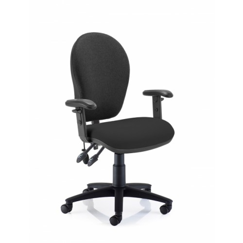 Sprite High Back Operators Chair with Height Adjustable Arms