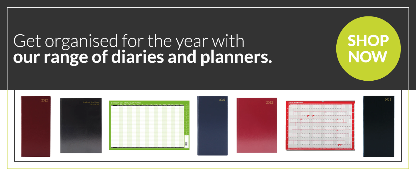 Diaries and planners banner