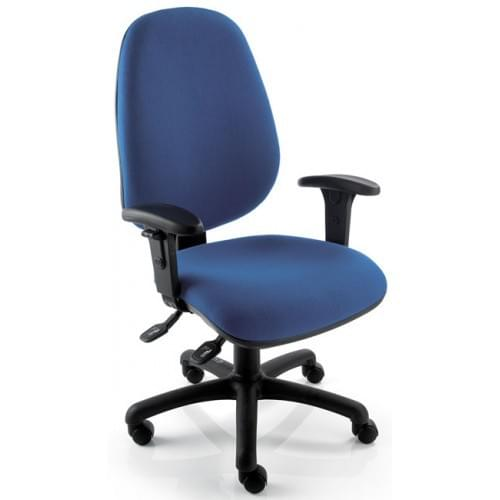Air Seating TR232 Operators Chair with height adjustable arms and added inflatable lumbar support