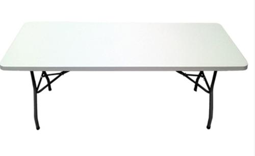 1.8M / 6ft Heavy Duty Plastic White Top Folding Leg Table
