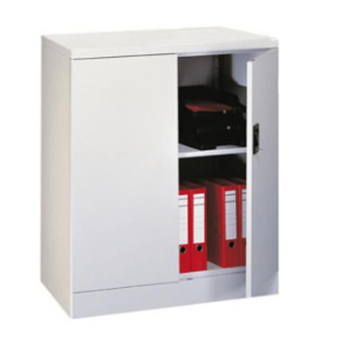 1020mm 2 Door Metal Cupboard Grey with 1 shelf
