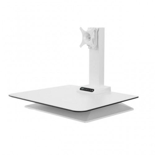 Leap Electrical Height Adjustable Desk Converter, Single Monitor -White