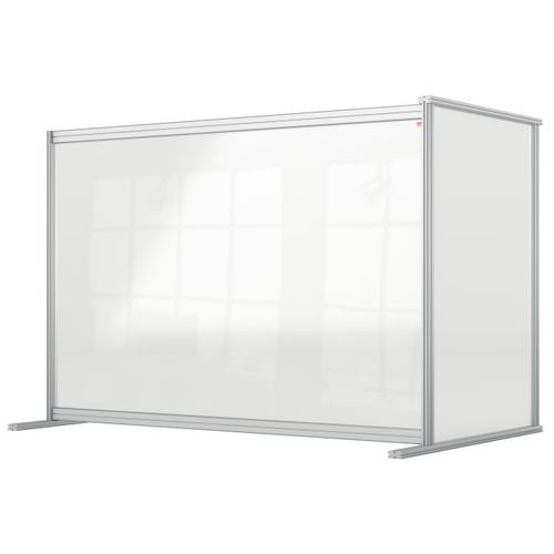 Nobo Premium Plus Clear Acrylic Protective Desk Divider Screen Modular System Extension