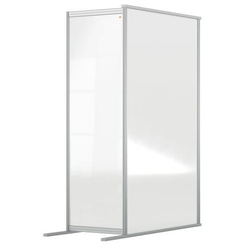 Nobo Premium Plus Clear Acrylic Protective Room Divider Screen Modular System Extension