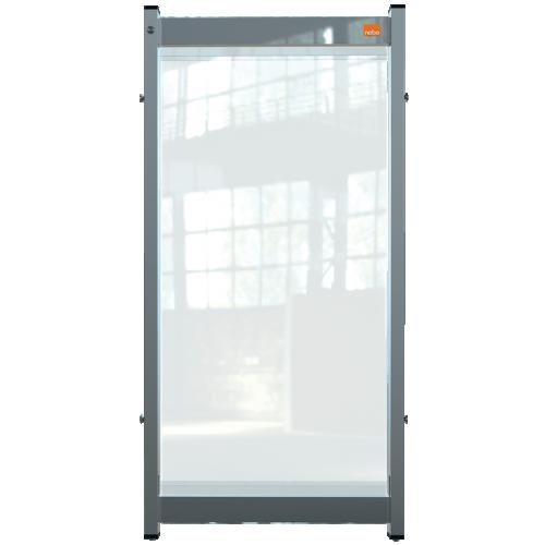 Nobo Premium Plus Clear PVC Modular System Desk Divider Screen