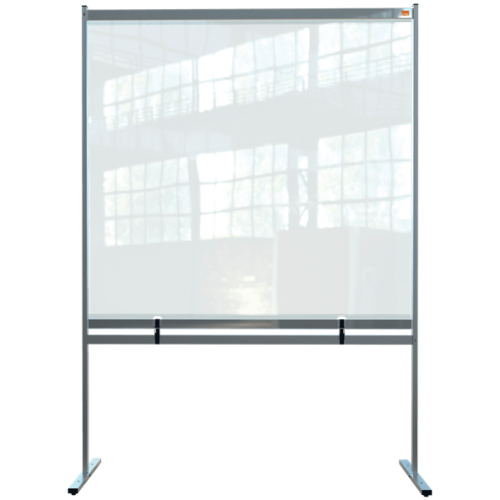 Nobo Premium Plus Clear PVC Free Standing Protective Divider Screen