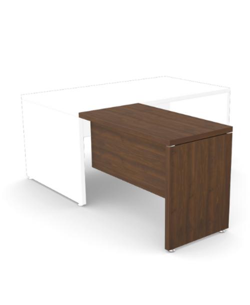 Fermo Return Desk Left/Right 1000 x 550mm - Dark Walnut