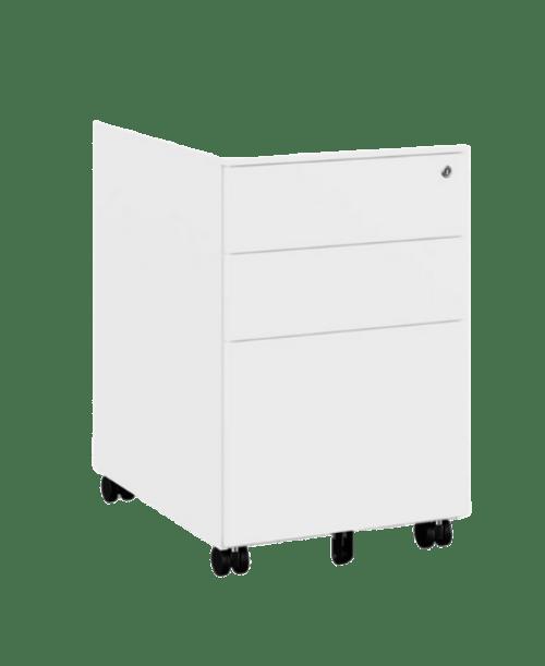 KITO - X Series Steel Ped - 390w x 520d x 600h - White