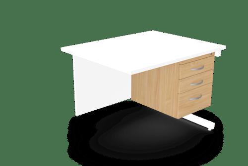 Kito Fixed Pedestal - 3drw - Beech