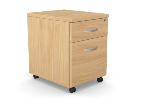 Kito Contract Mobile Pedestal 2 Drawer - Beech