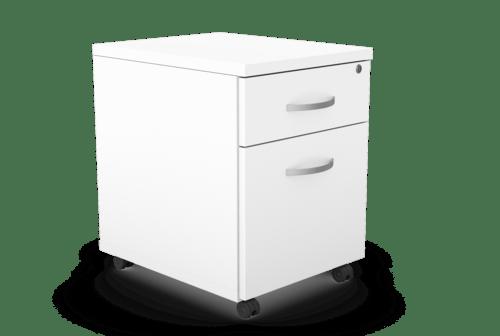Kito Contract Mobile Pedestal 2 Drawer - White