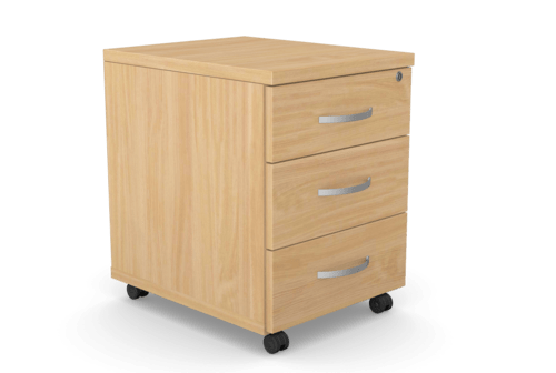 Kito Contract Mobile Pedestal 3 Drawer - Beech