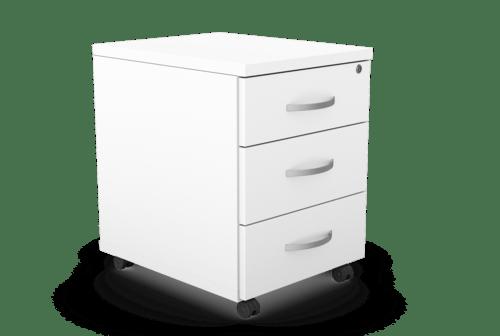 Kito Contract Mobile Pedestal 3 Drawer - White
