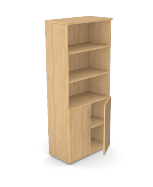 Kito Part Open Storage 1850mm- 2 Closed / 3 Open - Beech
