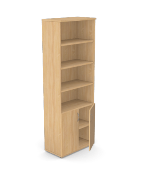 Kito Part Open Storage 2210mm - 2 Closed / 4 Open - Beech