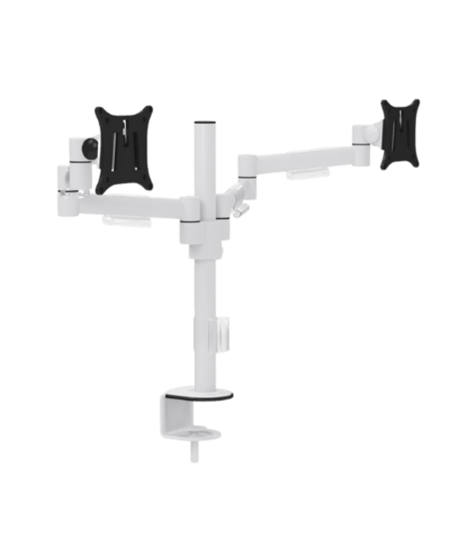 M200 Double Monitor Arms - White