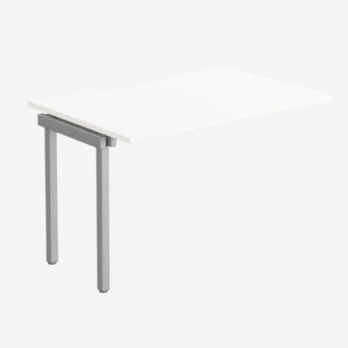 C-sense 1 Person Bench Add-On Scallop Top 1200 x 800 - WHT/SLV