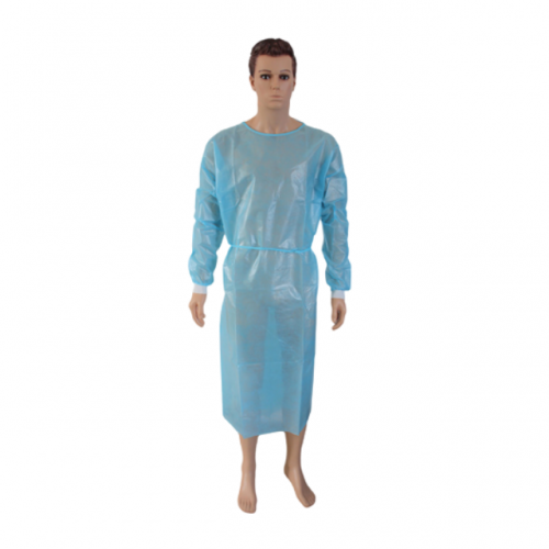 Long Sleeve PP Disposable Isolation Gown with Cuff | Pack of 100