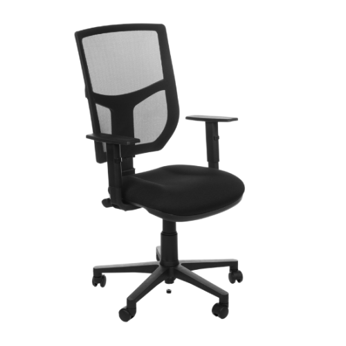 Evo Chair with Adjustable Arms - Black Mesh