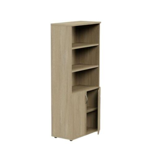 Kito 1850mm Part Open Storage - 2 Closed / 3 Open - Urban Oak
