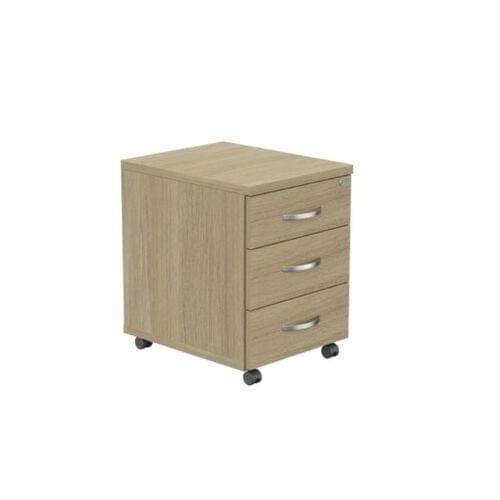 Kito Contract Mobile Pedestal 3 Drawer - Urban Oak