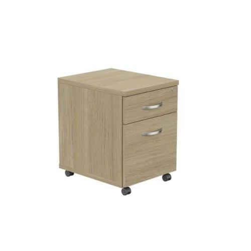 Kito Contract Mobile Pedestal 2 Drawer - Urban Oak