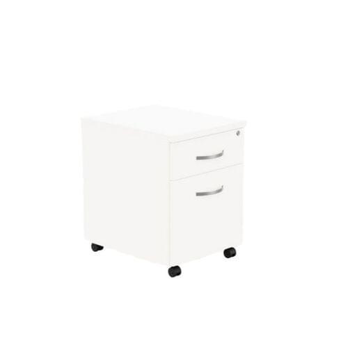 Kito Contract Mobile Pedestal 2 Drawer - Dark Walnut