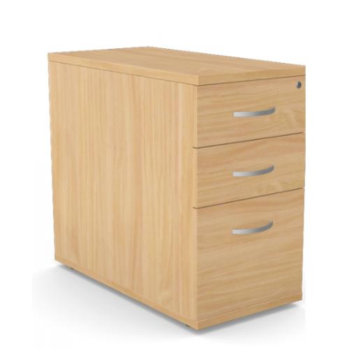Kito Contract Desk High Pedestal 3 Drawer 800mm Deep - Beech