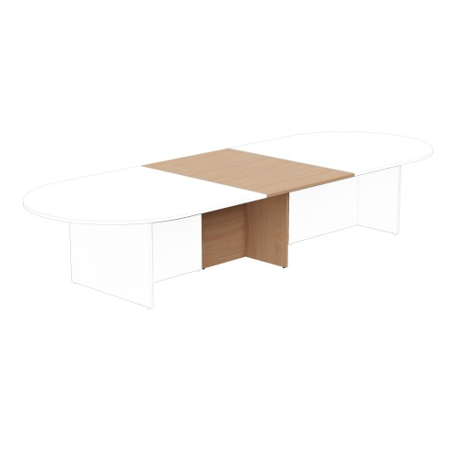 Kito Meeting Table Oval Panel Base Add On Section 1000w x 1400d - Beech