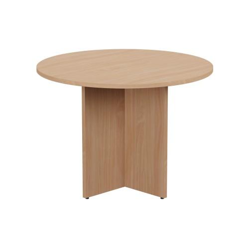 Kito Meeting Table Round Panel Base 1000mm Dia - Beech