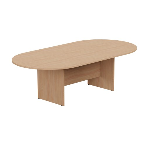 Kito Meeting Table Oval Panel Base 2400w x 1200d - Beech