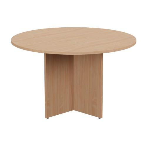 Kito Meeting Table Round Panel Base 1200mm Dia - Beech