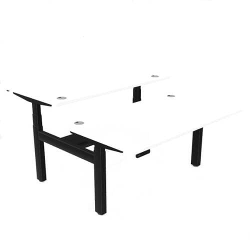 Leap Bench Desk Top With Portal, 1400 x 800mm - White / Black Frame