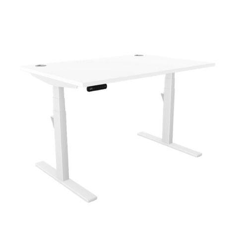 Leap Single Desk Top With Portal, 1400 x 800mm - White / White Frame