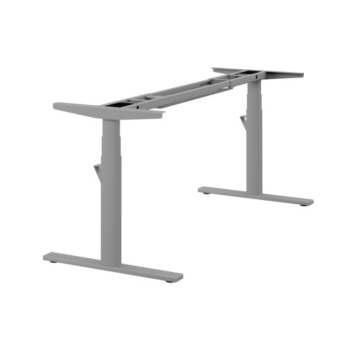 Leap Single 3 Stage Electric Adjust Frame 80/50 Profile 595-1245mm w/ Handset & Cable Tray - Silver